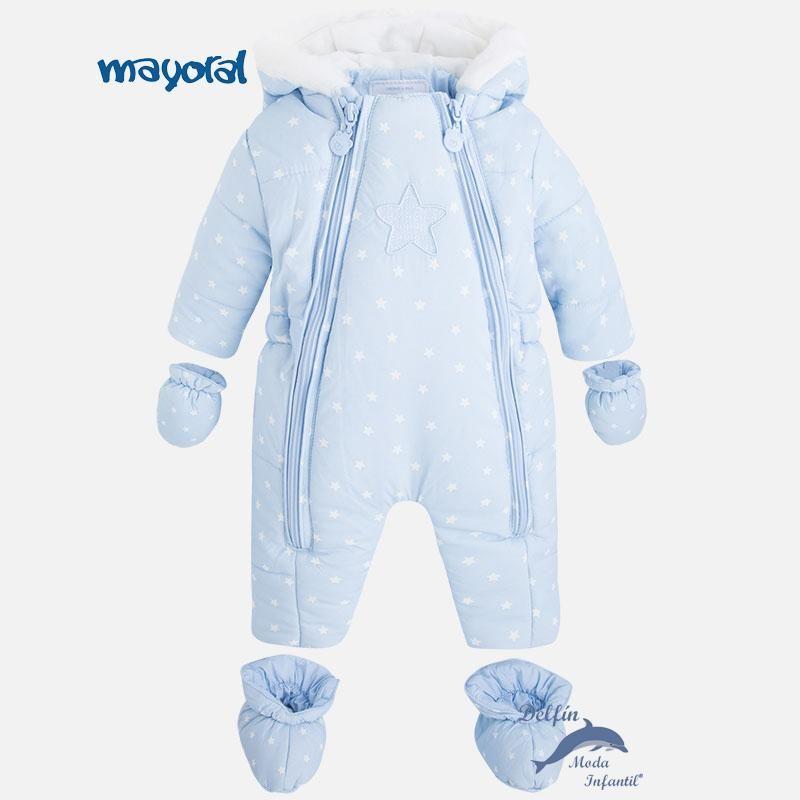 110e4c713450d Buzo para bebe de MAYORAL NEWBORN de estrellas celeste