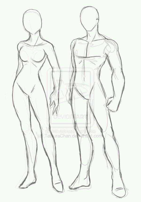 Modelos de hombre y mujer. | Estructuras, expresiones | Pinterest ...