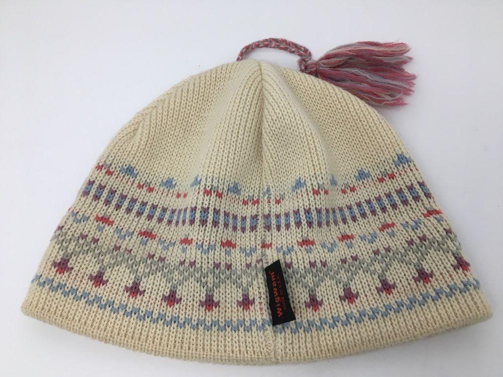 Vintage Wigwam Ski Hat with Tassle USA Made Winter Wool  Wigwam  Ski  Winter 7c8fa7536e0