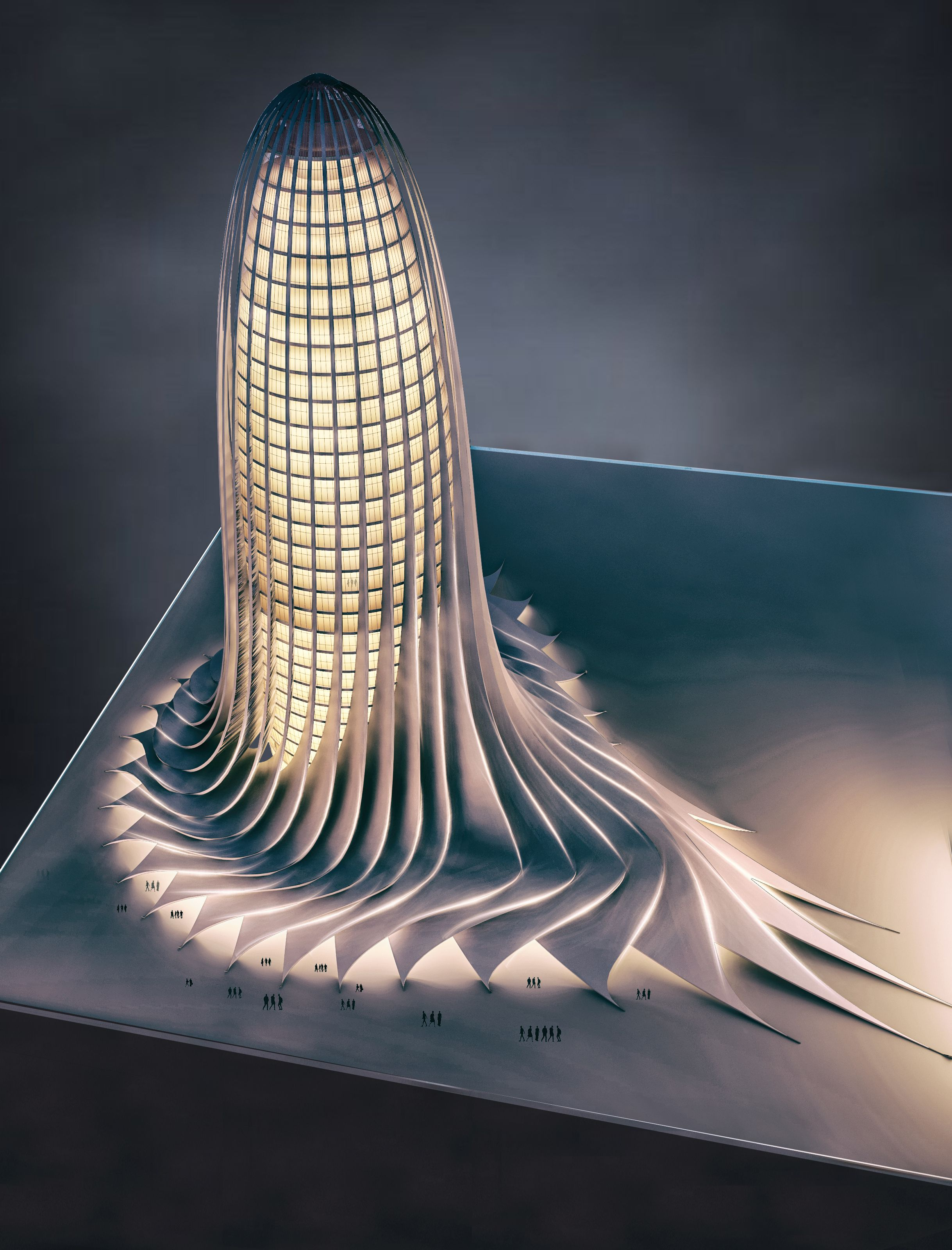 Office tower design and visualization by Mohanad Albasha