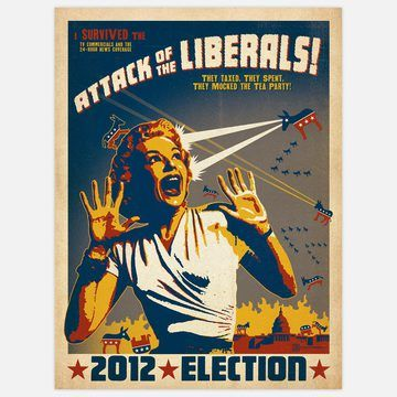 Attack Of The Liberals 18x24 Now Featured On Fab Funny Posters Art Poster Design Vintage Poster Design