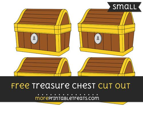 Free Treasure Chest Cut Out Small Size Printable