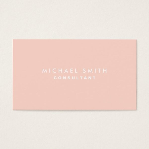 Professional plain elegant interior decorator pink business card businesscards templates also rh pinterest