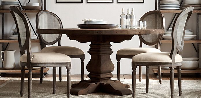 round dining table + chairs   Restoration Hardware