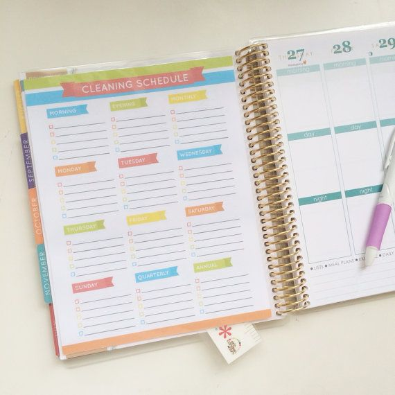 Cleaning Schedule / To Do List Rainbow Laminated by HelloAshleyann, $5.00