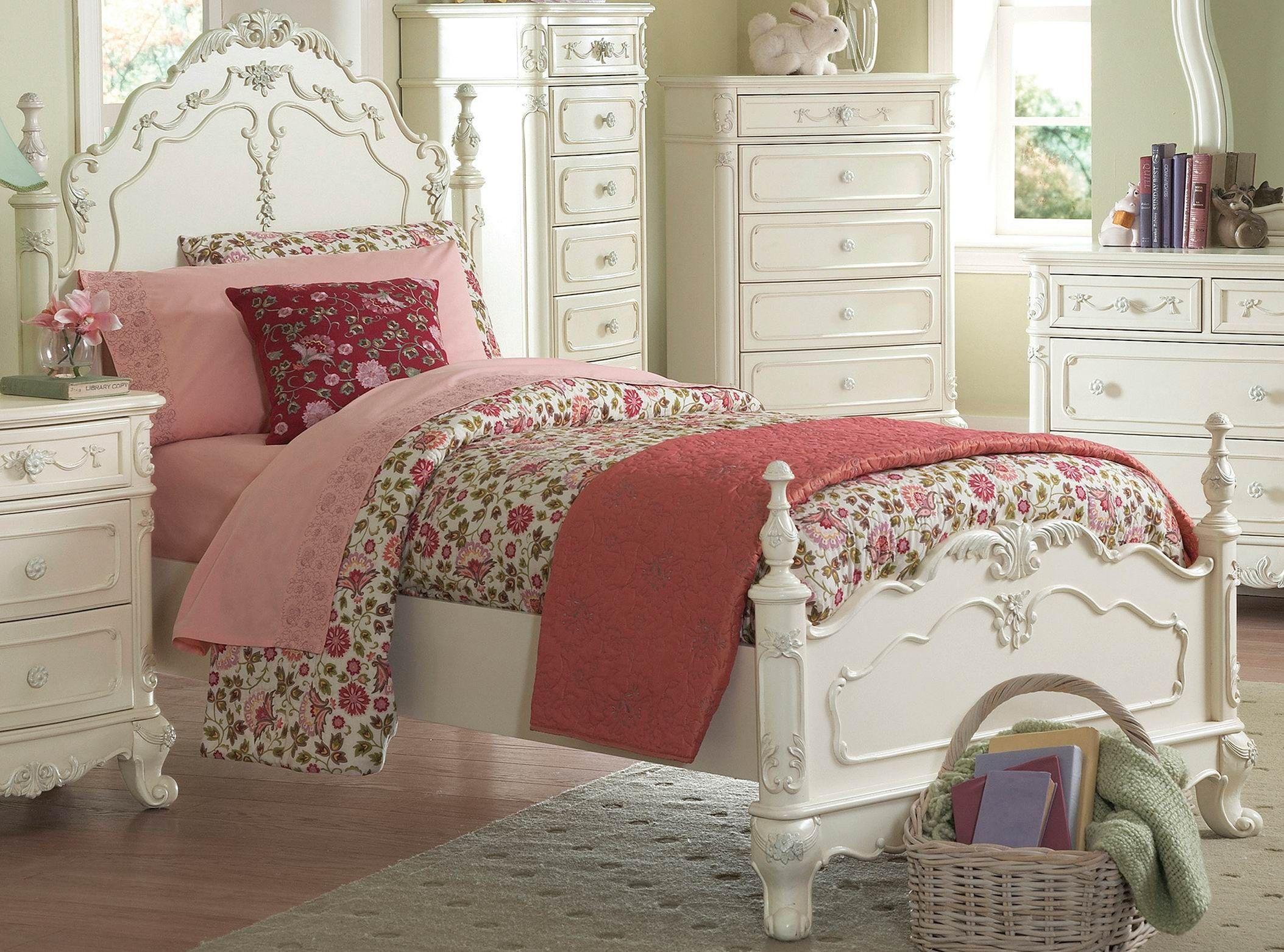 Cinderella Victorian White Girl Princess Bed 1386 1 By Homelegance Furniture Pinterest