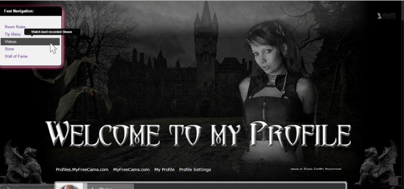 Gothica Mfc Profile Design For Cam Girls  Profile Design