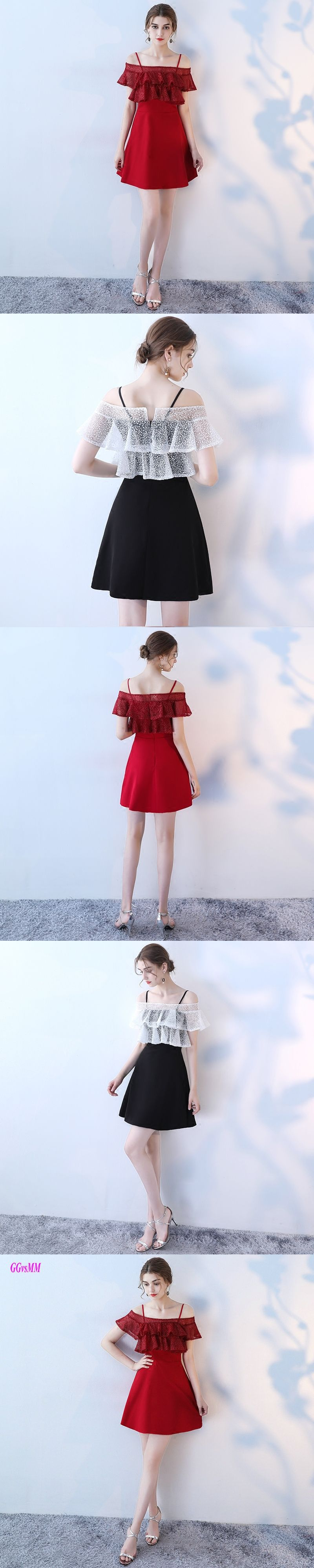 Fashion red prom dresses sexy boatneck satin lace aline cheap