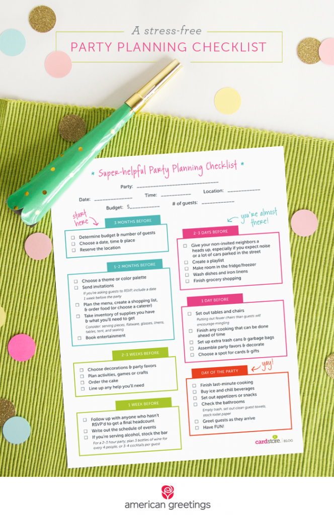 A StressFree Party Planning Checklist And A Free Printable