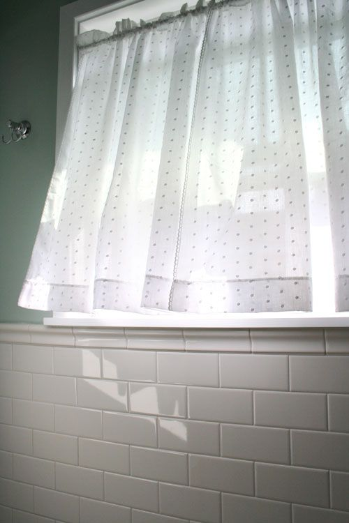 Swiss Dot Home Extras Small Window Curtains Bathroom Window Treatments Bathroom Window