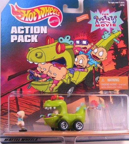Hot Wheels Rugrats Movie Reptar Wagon Action Pack Set 1997 | eBay