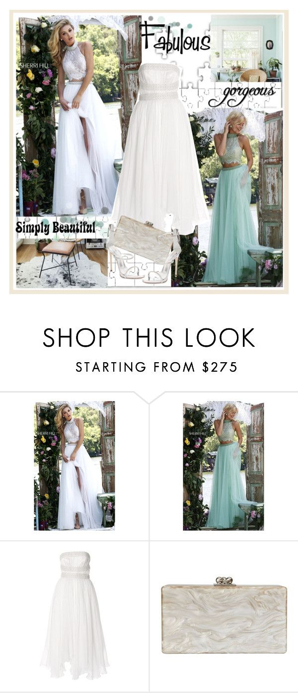 """""""homecomingqueendress"""" by stranjakivana ❤ liked on Polyvore featuring Sherri Hill, Parlor, Edie Parker, Giuseppe Zanotti, Ziggy, polyvoreeditorial and homecomingqueendress"""