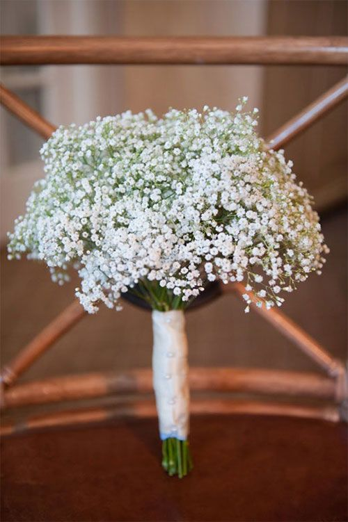 When Picking Your Wedding Flowers Make Sure You Know What They Might Symbolize Babys Breath Bouquet Babys Breath Wedding Wedding Flowers
