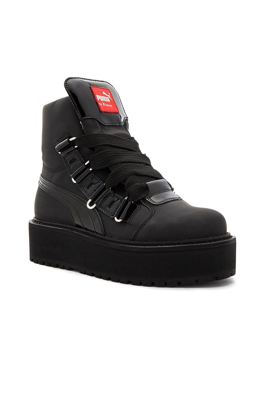 Fenty by Puma   Sneaker Boot in Black   REVOLVE   Boots