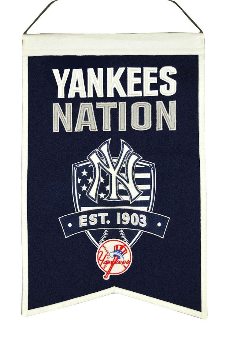 New York Yankees Banner Wool Nations New York Yankees New York Yankees Logo Yankees