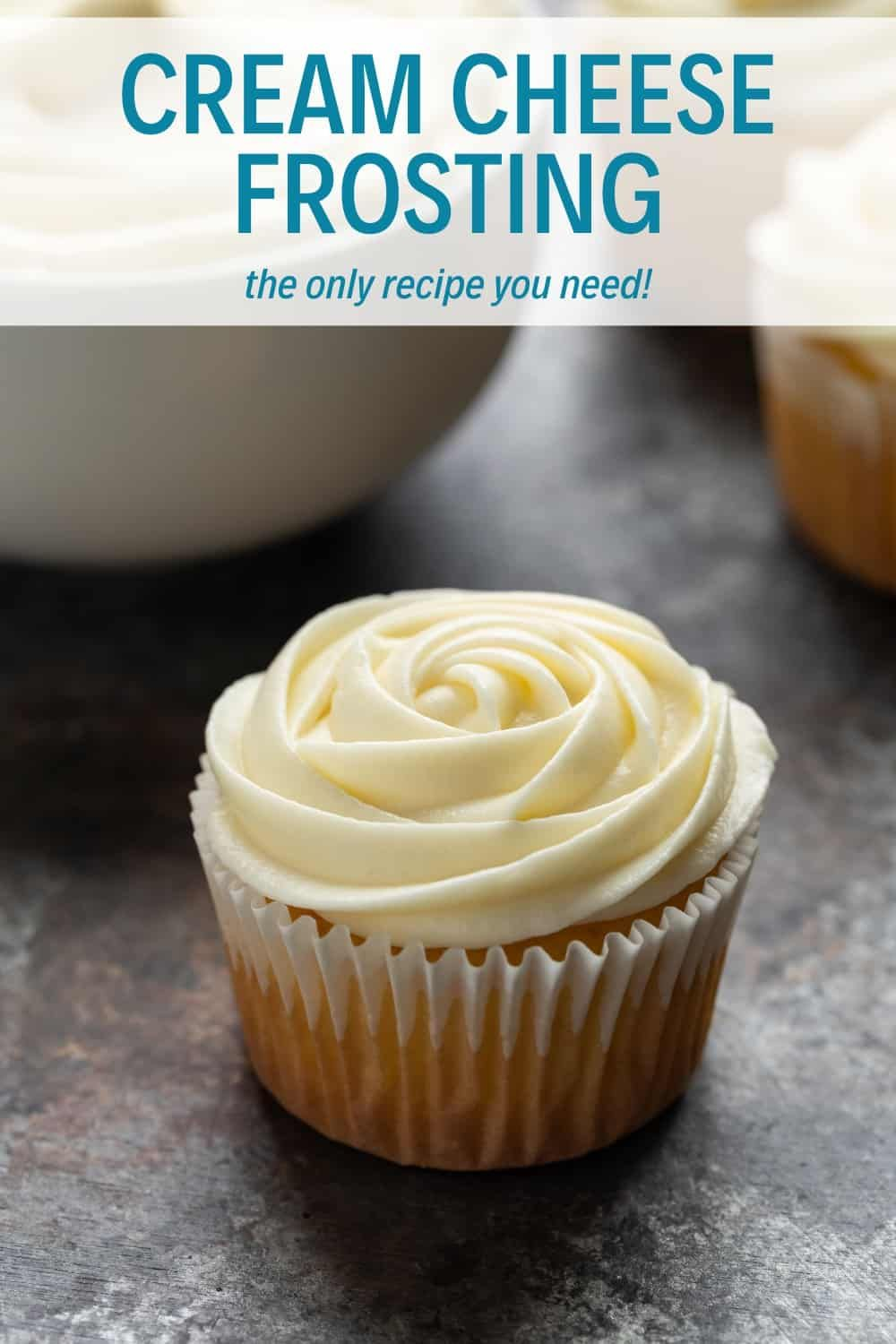 Cream Cheese Frosting This silky Cream Cheese Frosting is a basic recipe that can be used in a variety of ways. It's not too sweet and has a ton of tangy cream cheese flavor!