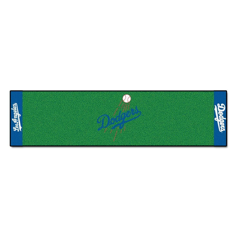 MLB Los Angeles Dodgers 1 ft. 6 in. x 6 ft. Indoor 1-Hole Golf Practice Putting Green