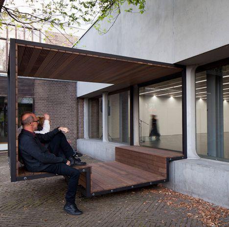 Open air interior public semi outdoor cantilevered cinema for Semi open spaces