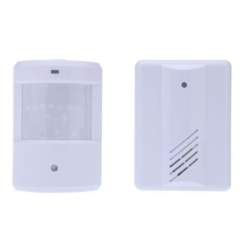 Wireless Infrared Sensor Doorbell Monitor Detector Entry Door Bell