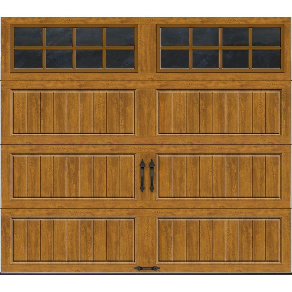Clopay Gallery Collection 8 Ft X 7 Ft 6 5 R Value Insulated Ultra Grain Medium Garage Door With Sq24 Window Gr1lp Mo Sq24 The Home Depot In 2020 Garage Door Design Garage Doors Carriage Style Garage Doors