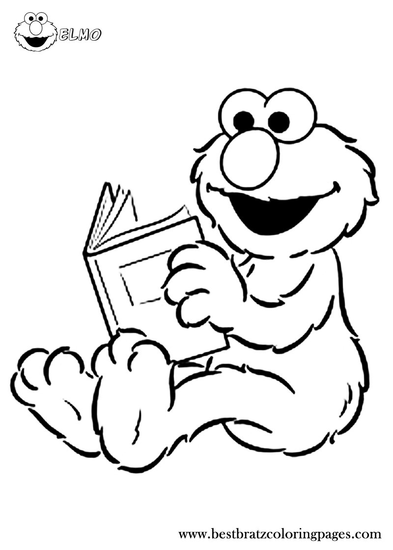 Free Printable Elmo Coloring Pages | Bratz Coloring Pages | Sesame ...