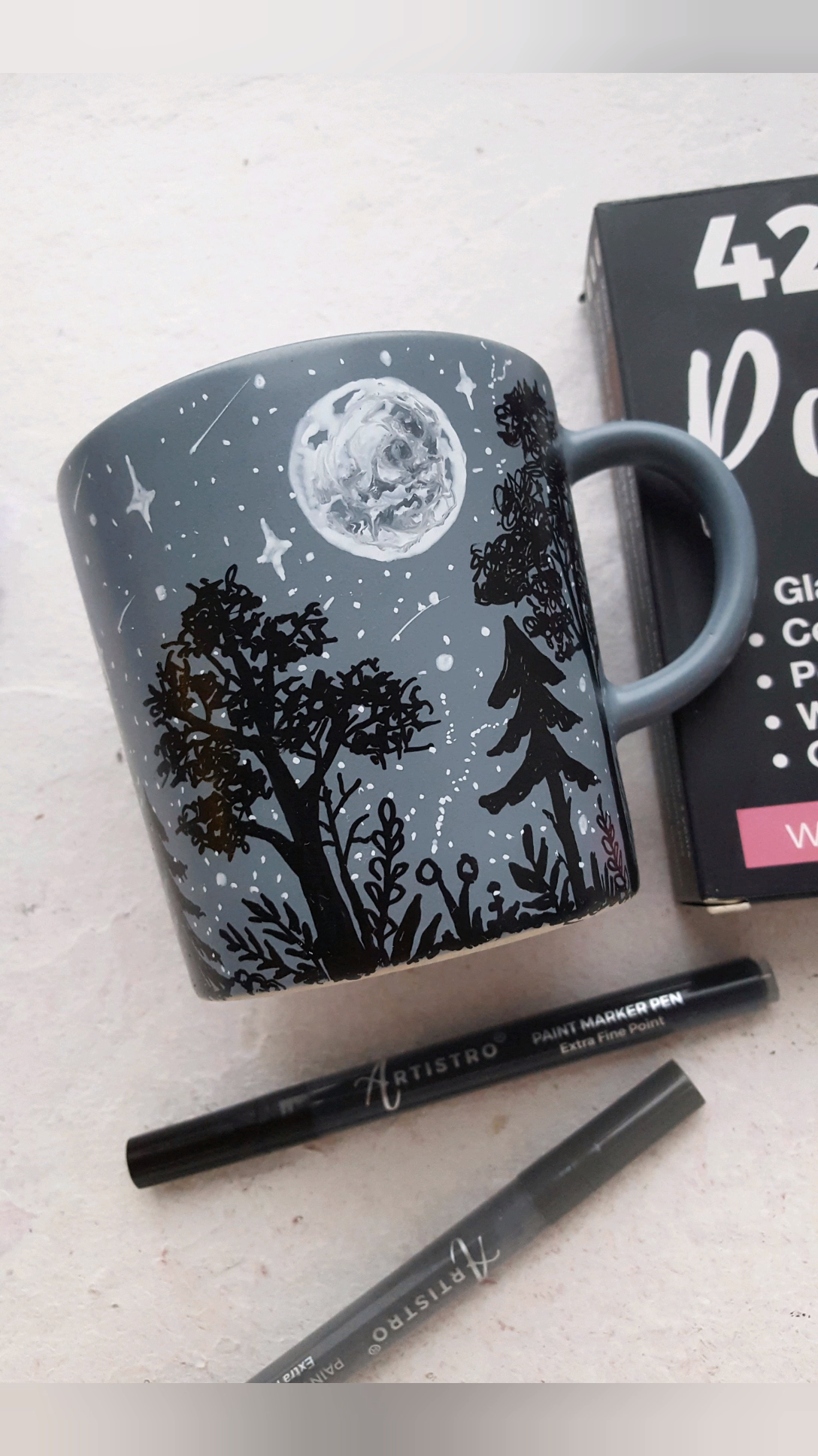 Moon painted mug