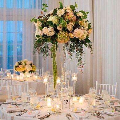 decoraci n de flores para centros de mesa altos google