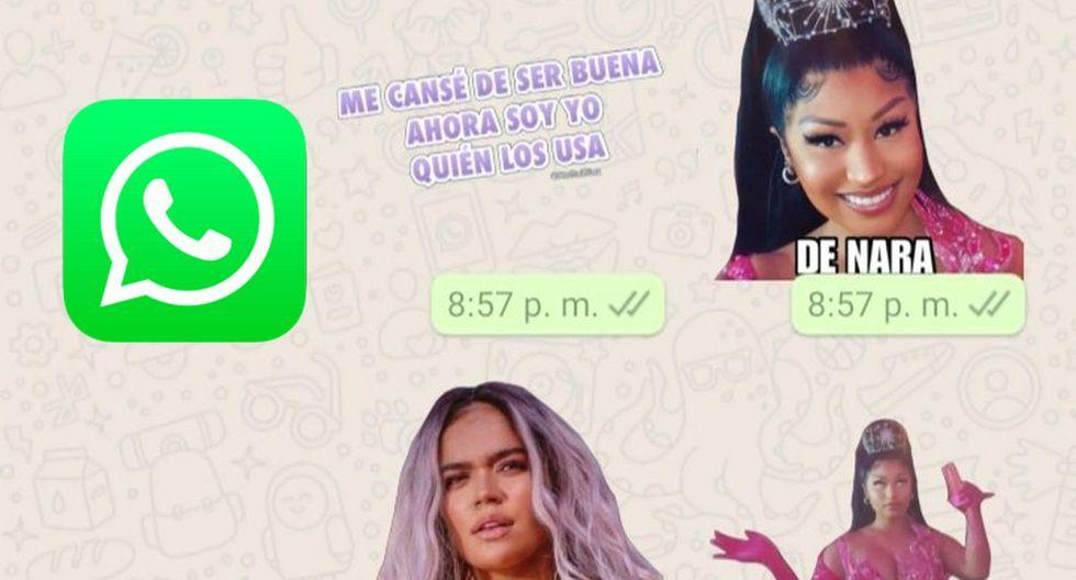 Asi Puedes Descargar En Tu Whatsapp Los Nuevos Sticker De Tusa Karol G Nicki Minaj Cantantes Femeninas Imagenes De Emojis Nicki Minaj