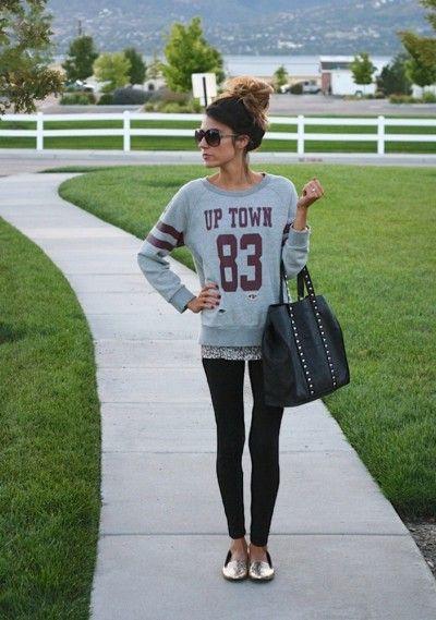 sporty chic style: jerseys