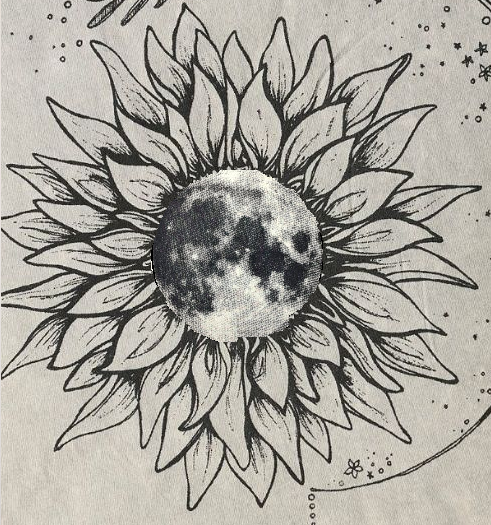 Moon Flower A Sunflower With A Moon Inside For The Polar Opposites With Images Sunflower Tattoos Sunflower Tattoo Shoulder Sunflower Mandala Tattoo