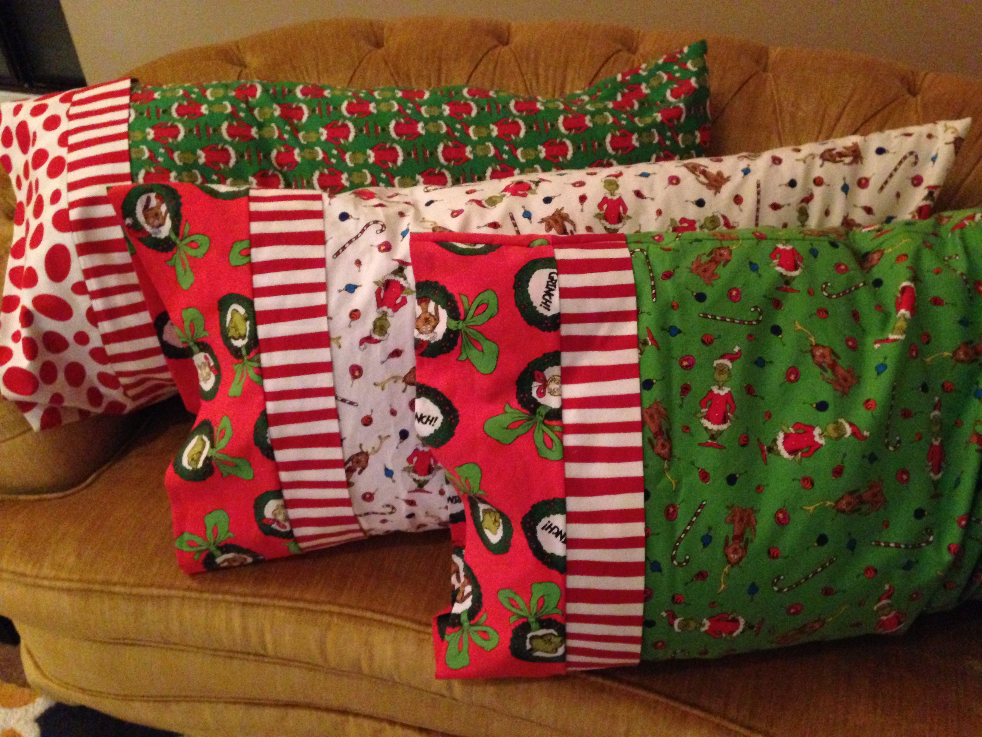 Christmas Grinch Pillows