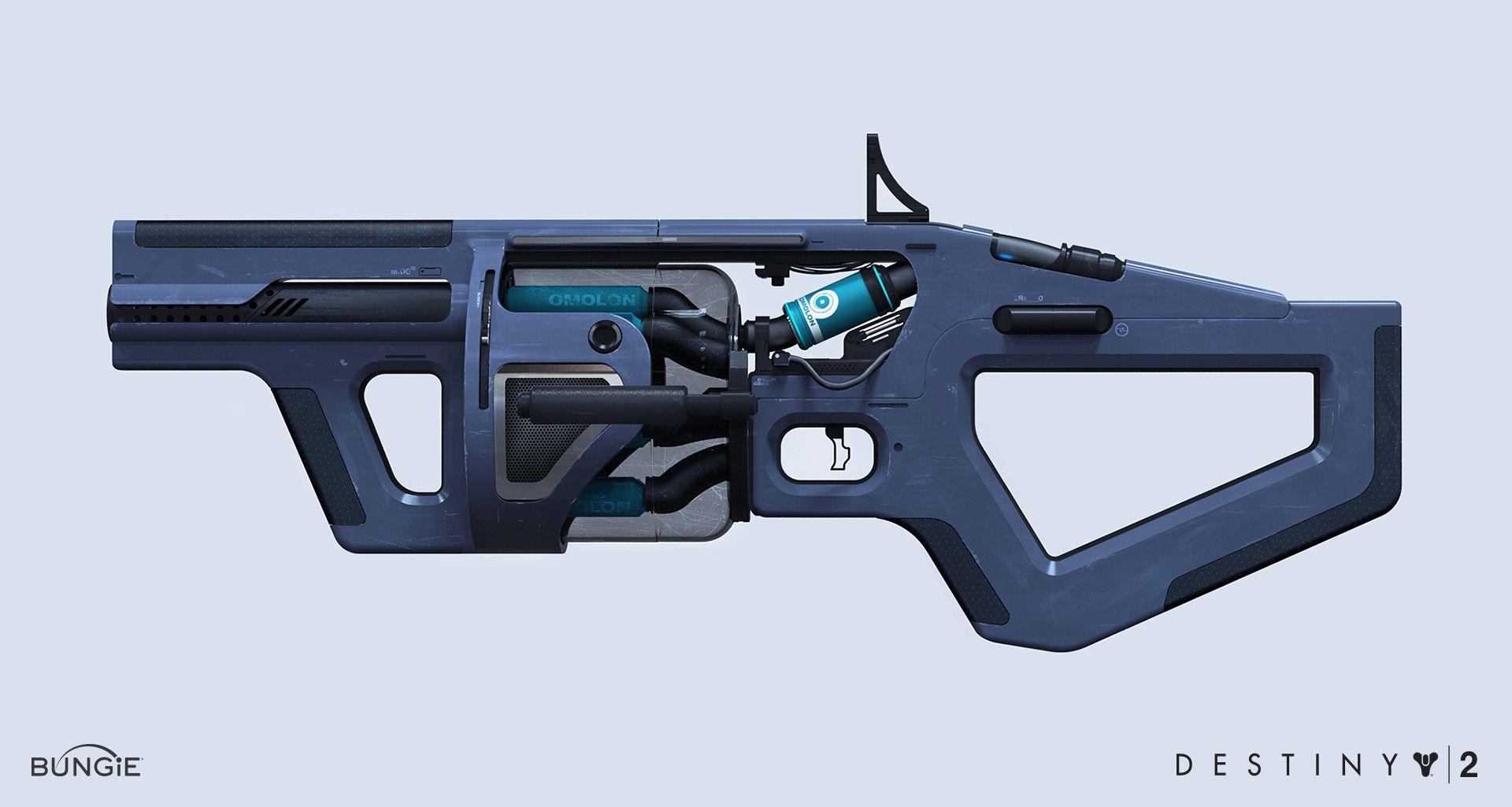ArtStation - Destiny 2- Omolon Grenade Launcher , Dima
