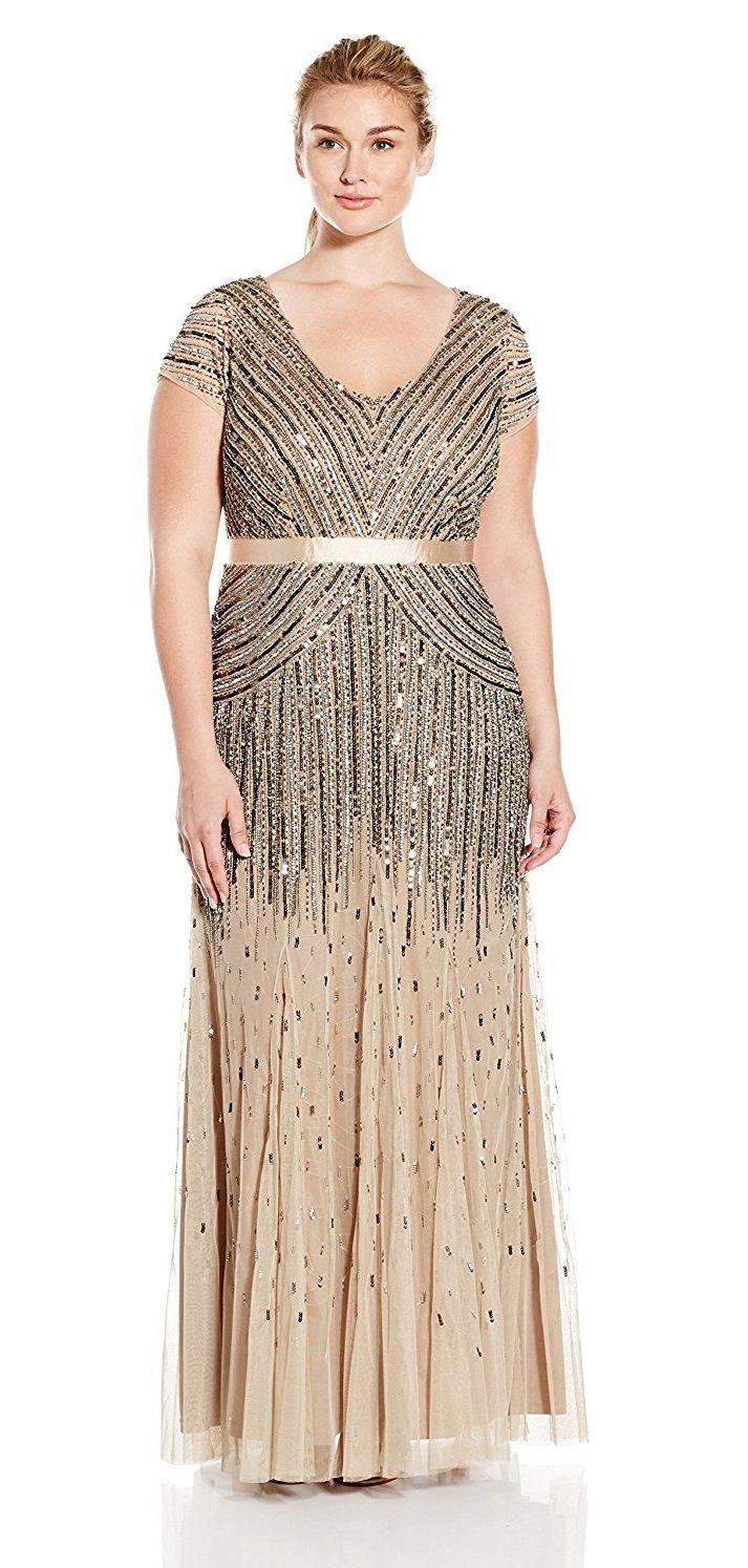 Plus size beaded gown plus size wedding guest dress plus sinze