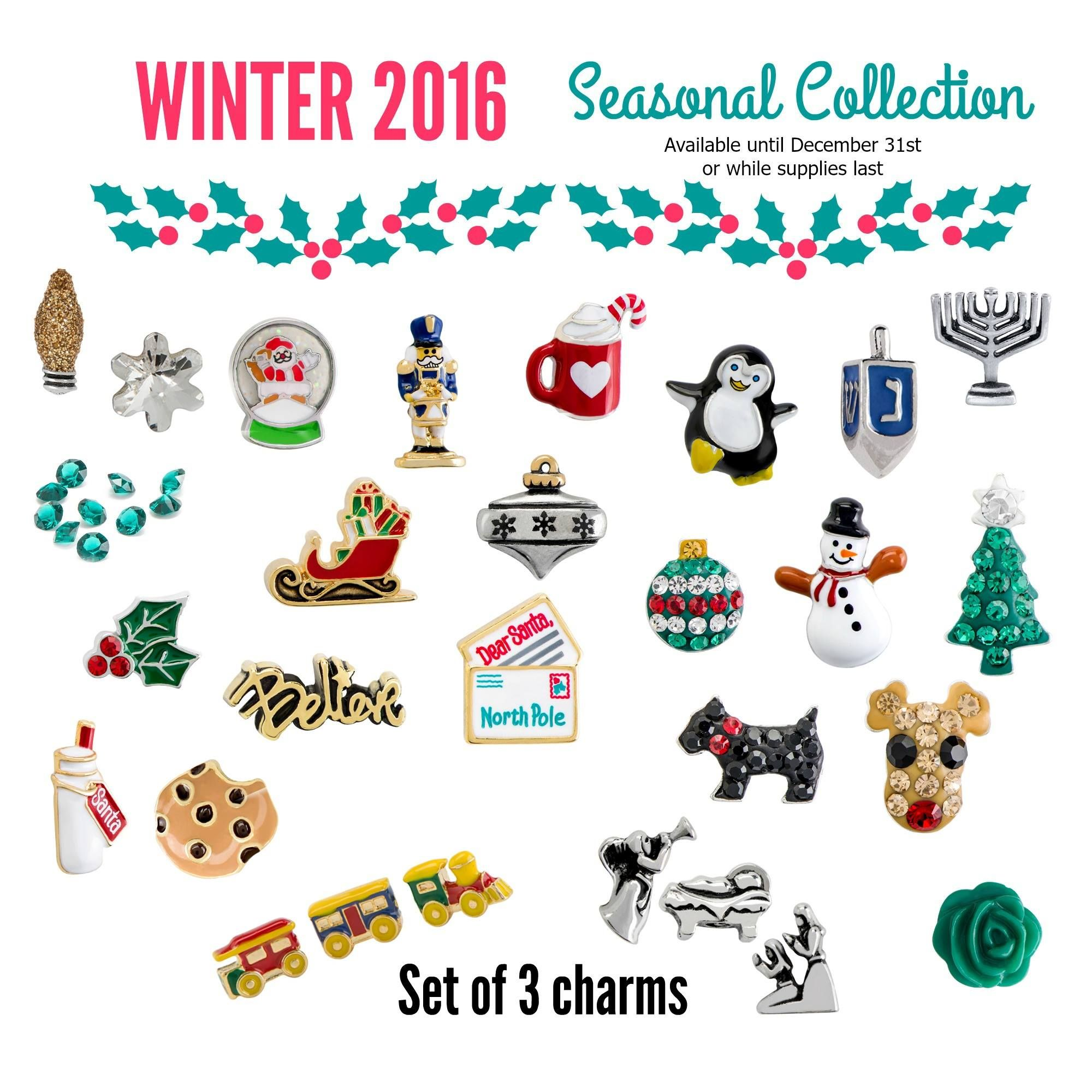 Origami owl winter seasonal exclusives www holiday origami owl winter 2016 love the xmas charms like the reindeer n penguin globe sled jeuxipadfo Gallery