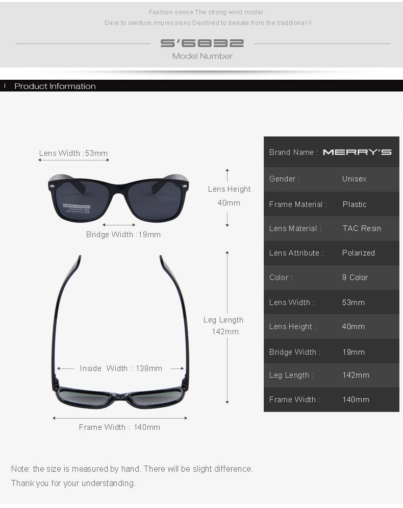 05f5867bc5ac MERRY'S Fashion Polarized Sunglasses Men Brand Designer Classic Mens Retro  Rivet Shades Sun glasses UV400 S