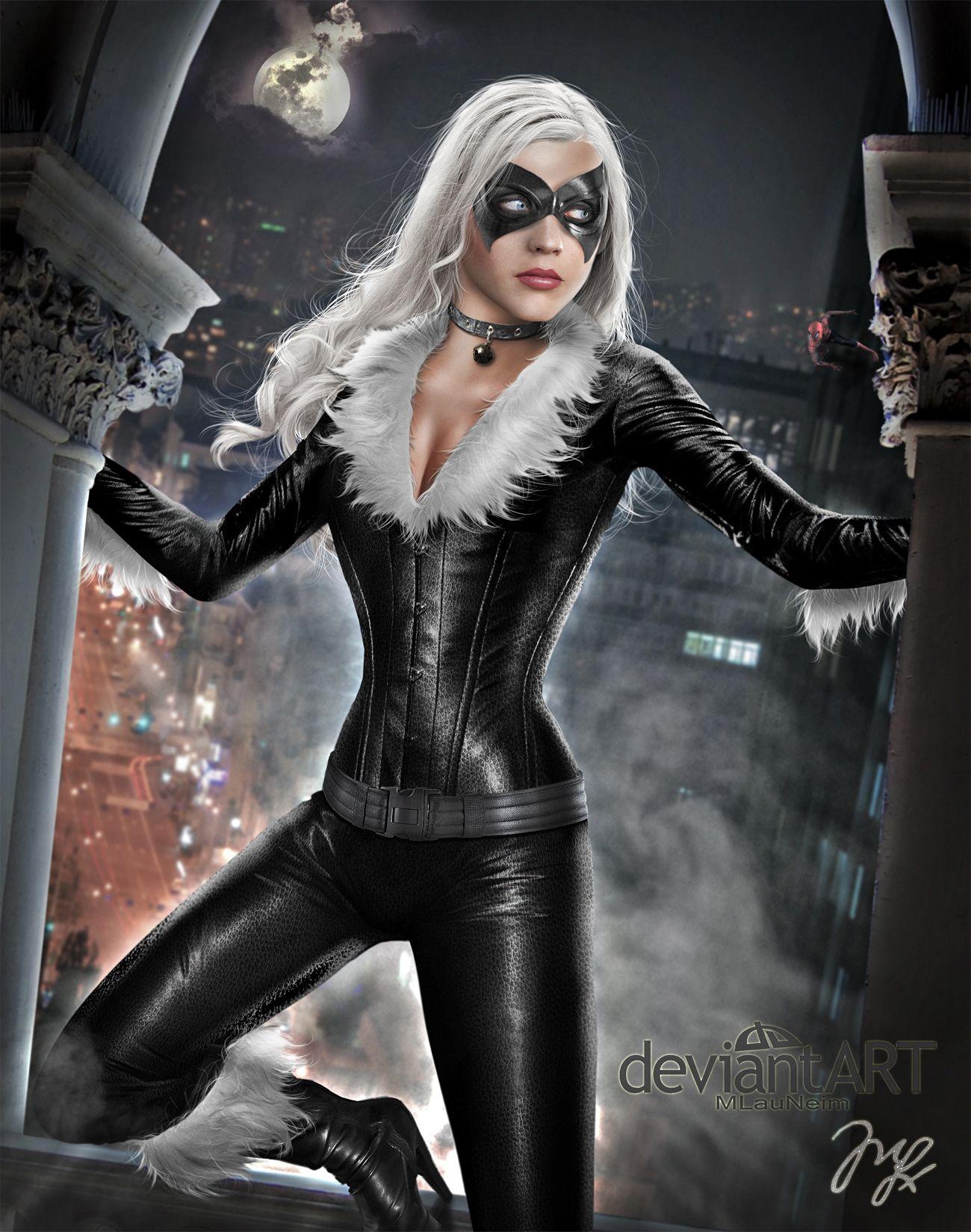 spiderman black cat costume - 736×933