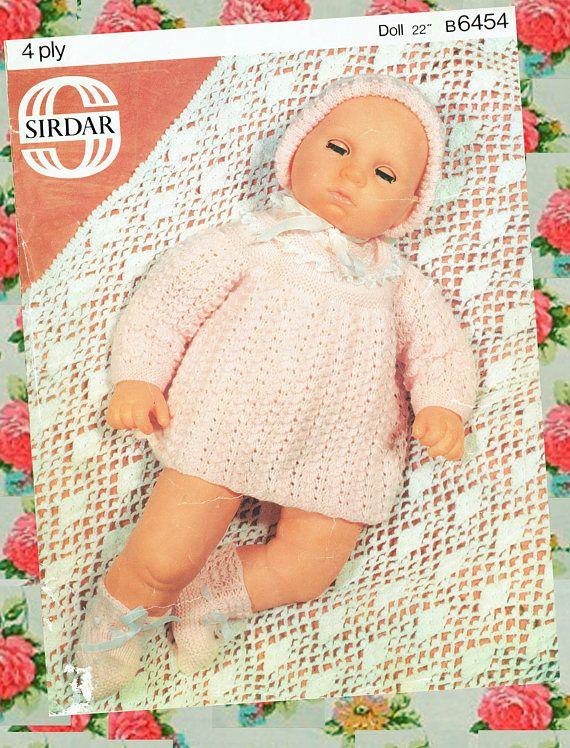 Knitting Clothes For Premature Babies : Original vintage doll clothes premature baby knitting