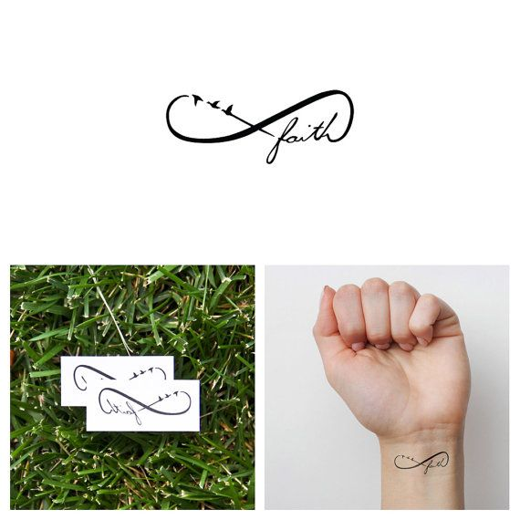 Infinity Faith Symbol Temporary Tattoo Set Of 2 Faith Tattoo