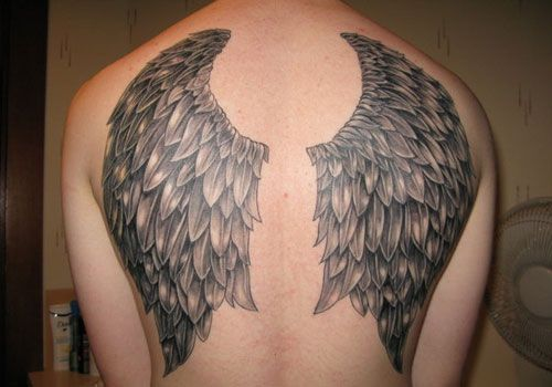 Realistic Angel Wing Tattoo Designs For Men On Back Image Wing Tattoo Designs Wing Tattoo Men Wings Tattoo