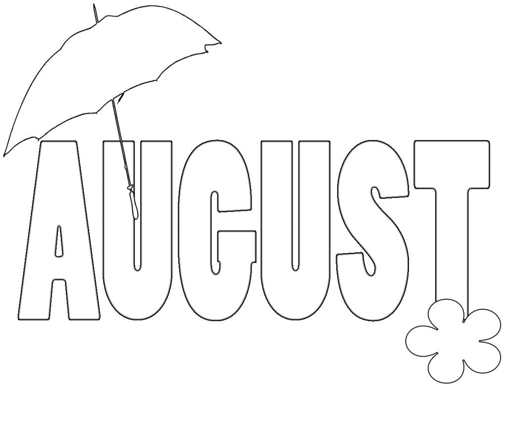August Coloring Pages Coloring Pages August Colors Beach