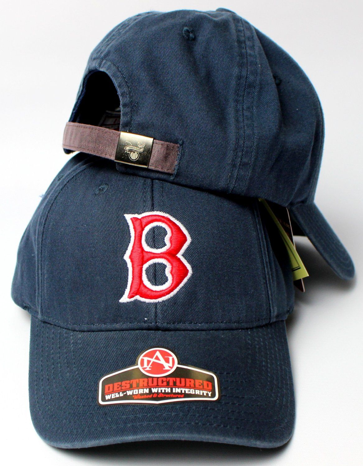 best service 1a6c8 99fc8 Amazon.com   Boston Red Sox MLB American Needle 1946 Cooperstown Pastime  Replica Destructured Adjustable Cap Navy   Sports   Outdoors