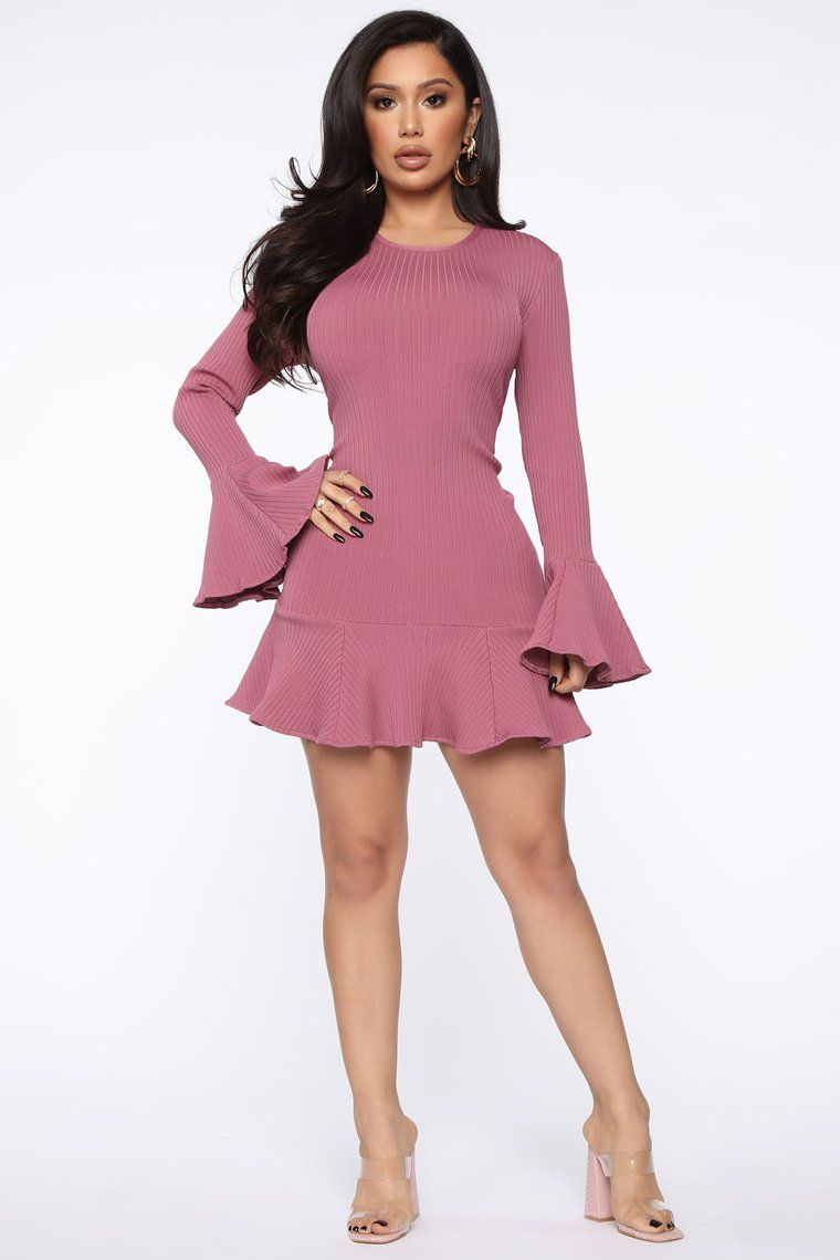All Ruffled Up Bandage Mini Dress Pink Mini dress