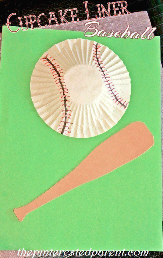 Photo of Cupcake Liner Baseball & Cotton Ball Cotton Candy Craft – The Pinterested Parent