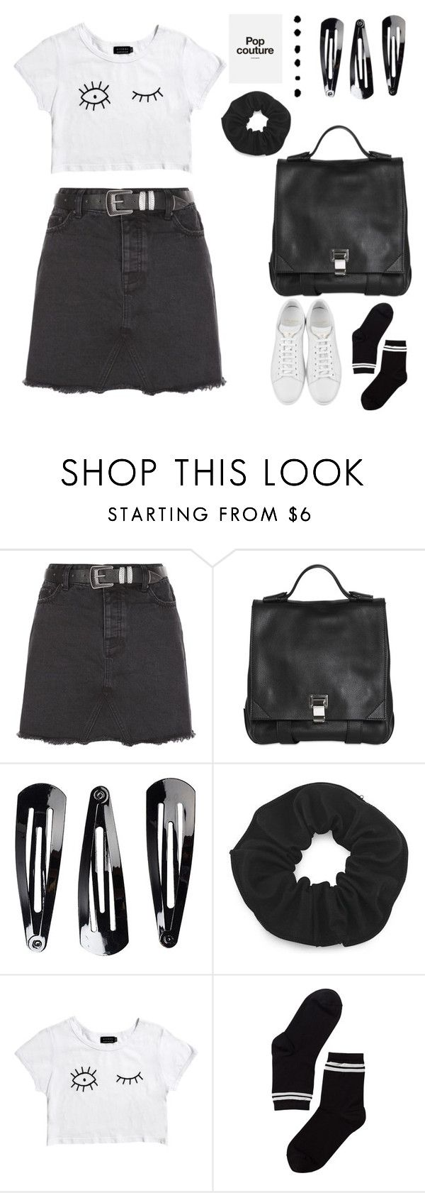 """""""pop culture is amazing"""" by gb041112 ❤ liked on Polyvore featuring New Look, Proenza Schouler, NLY Accessories, Afends, Karl Lagerfeld, Monki and Yves Saint Laurent"""