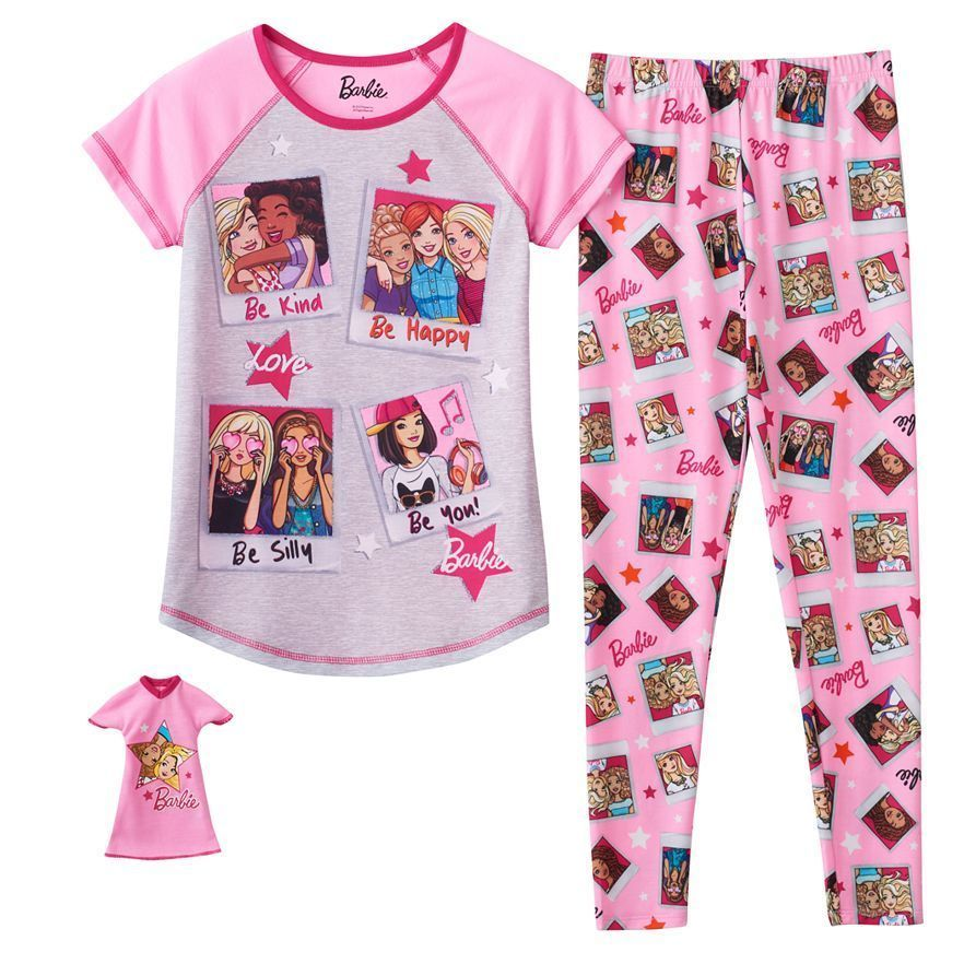 b712bd948 Barbie Friends   Doll Pajama Set with matching gown for Barbie Doll ...