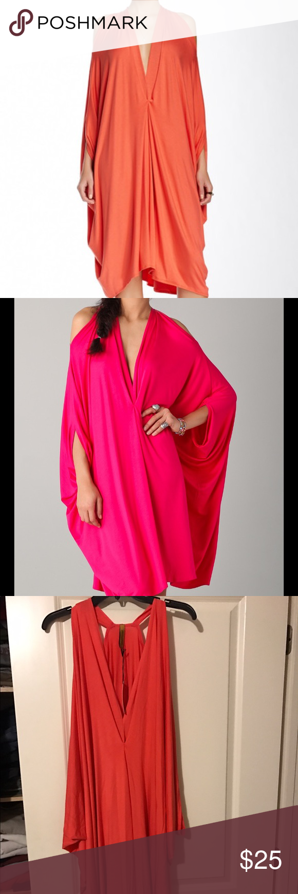 BNWT- Rachel pally kaftan dress BNWT- Rachel Pally Gywneth caftan dress. It's not fitted actually drapes and it suppose to be over sized look. You could belt it to make you have more shape. Pretty orange color like the first photo shows. Rachel Pally Dresses
