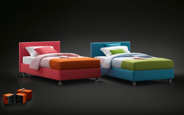 Letti Per Bambini Flou.Notturno Bed With Removable Cover Also Available As Storage Bed