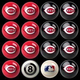Cincinnati Reds Pool Ball Set Mlb Shop Billiard Factory Billiards Cincinnati Reds Billiard Balls
