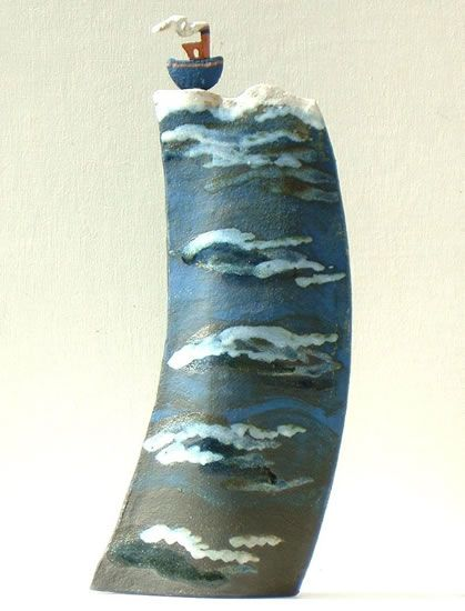 Ceramic decorated with slips and glazes by Clandon Pottery