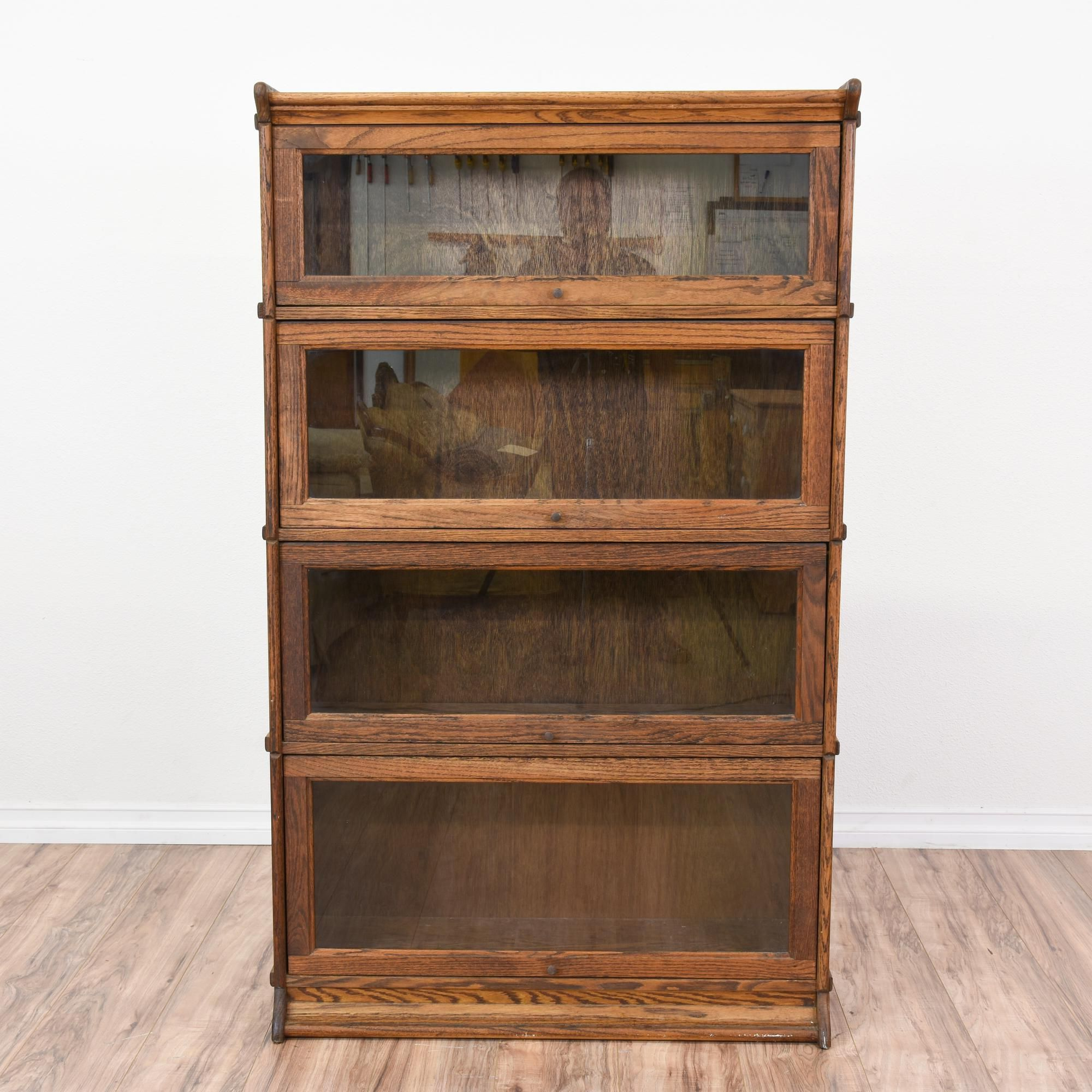 This Rustic Lawyers Bookcase Is Featured In A Solid Wood With Dark Oak Finish